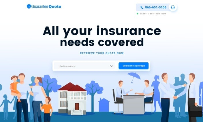 Guarantee Quote website