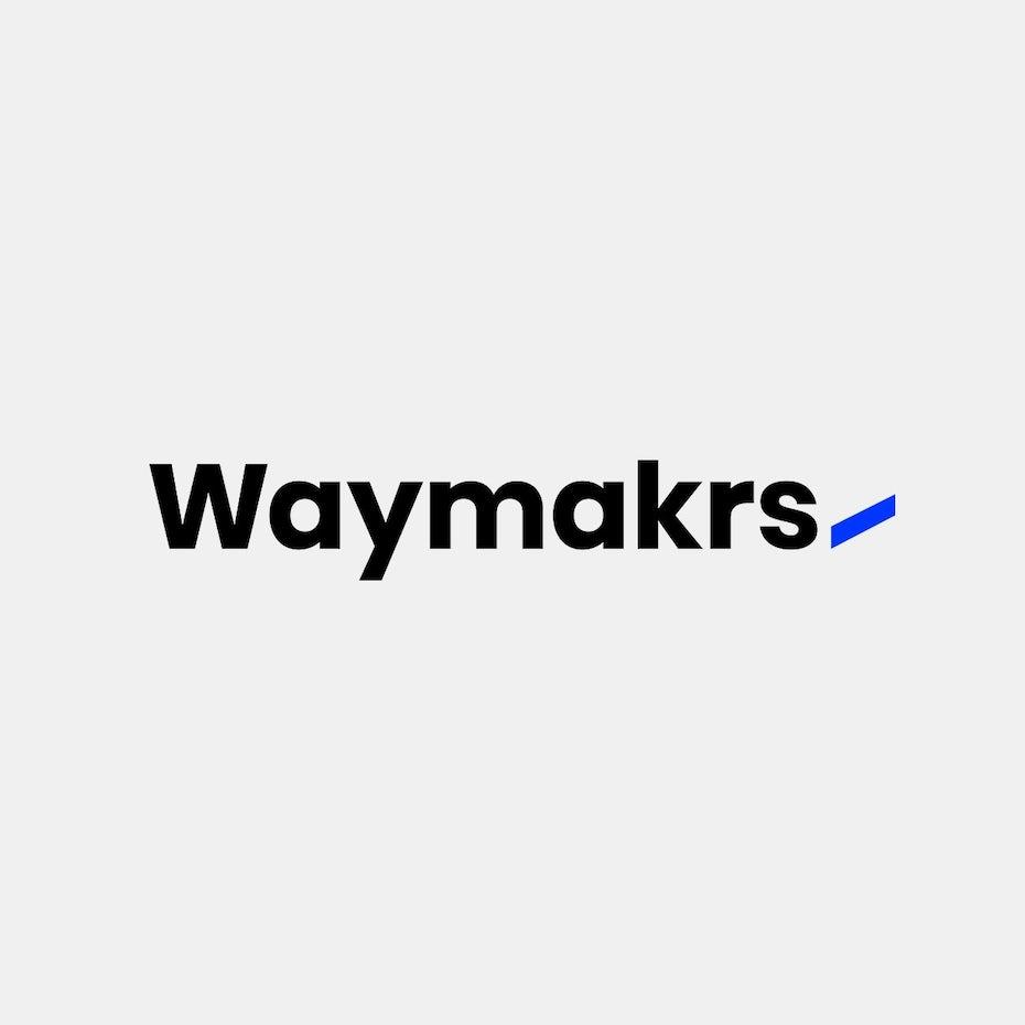 Bold blue sans serif digital marketing wordmark logo