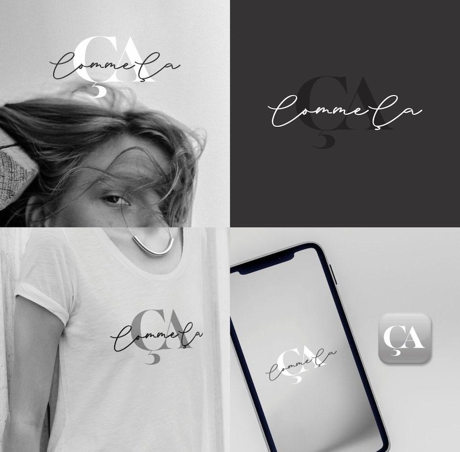 minimalist wordmark logo