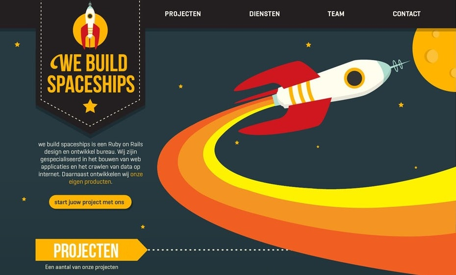 We Build Spaceships website