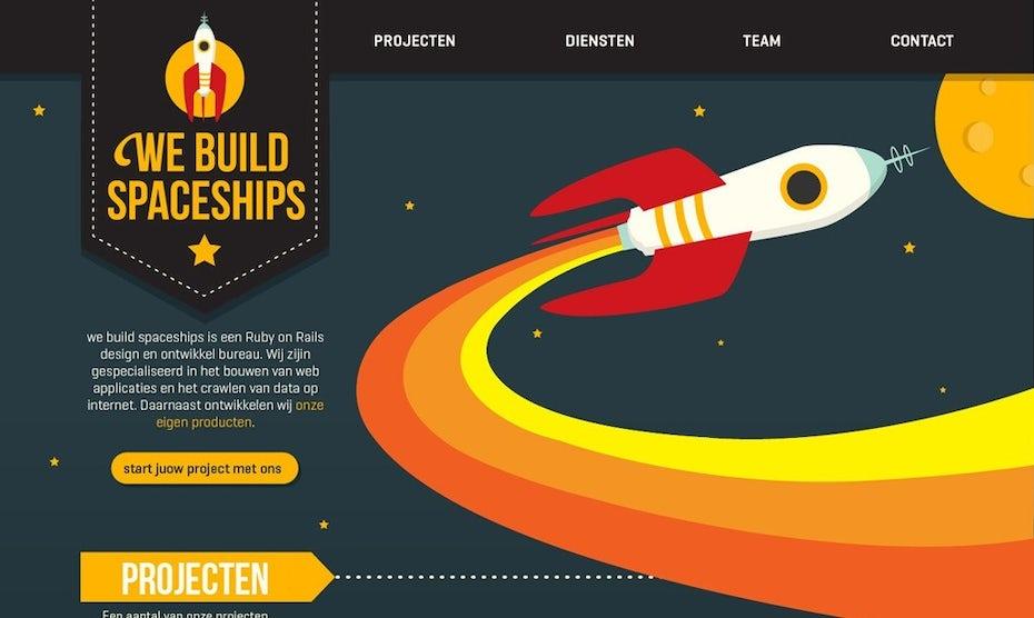 We Build Spaceships website