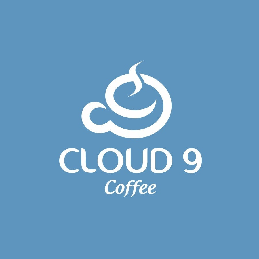logo with hidden meaning with coffee cup in shape of a 9