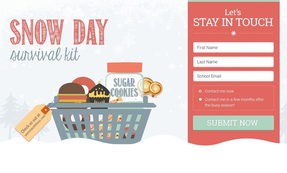 Snow Day Survival Kit website