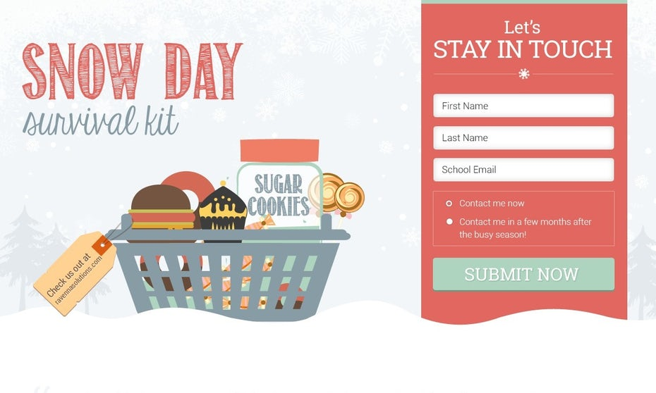 Snow Day Survival Kit website