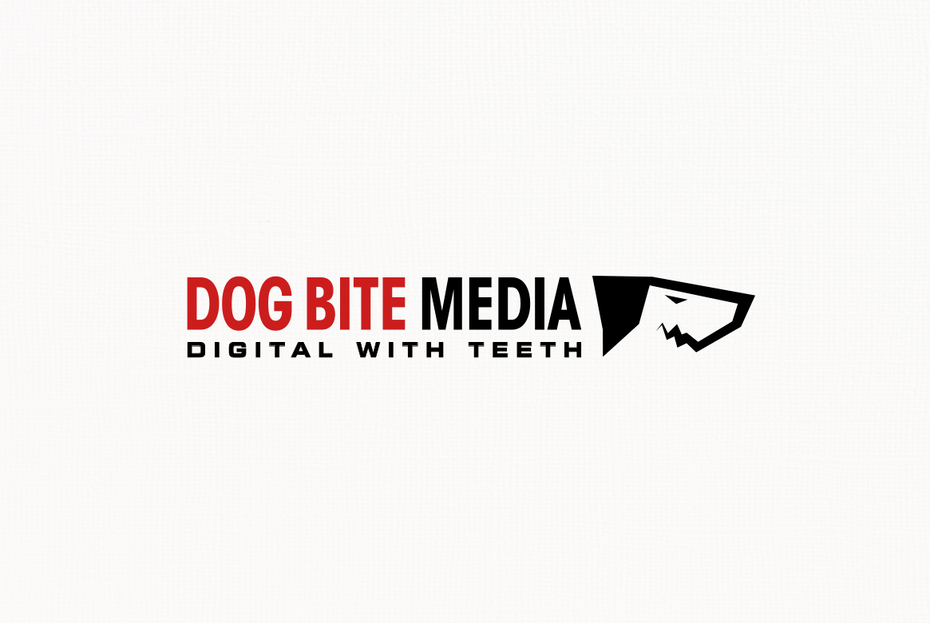 Dog mascot digital marketing logo
