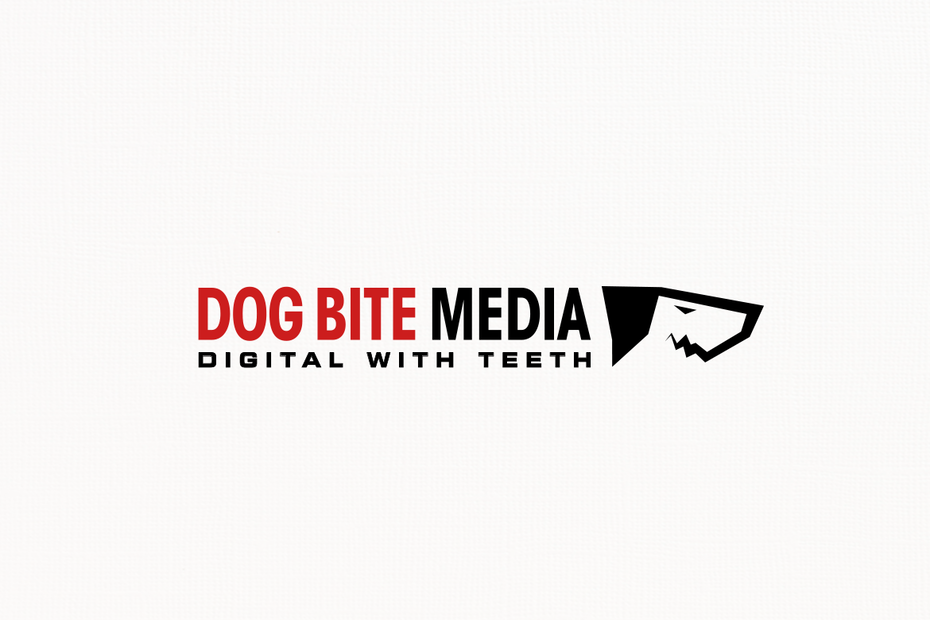 Dog mascot digital marketing logo