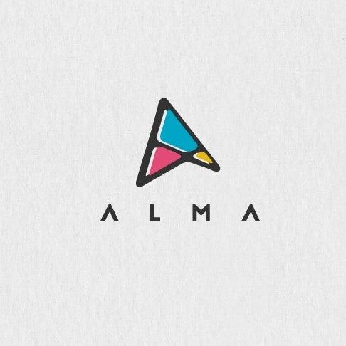 Abstract digital marketing logo