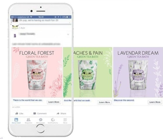 pastel instagram ad design for bath product