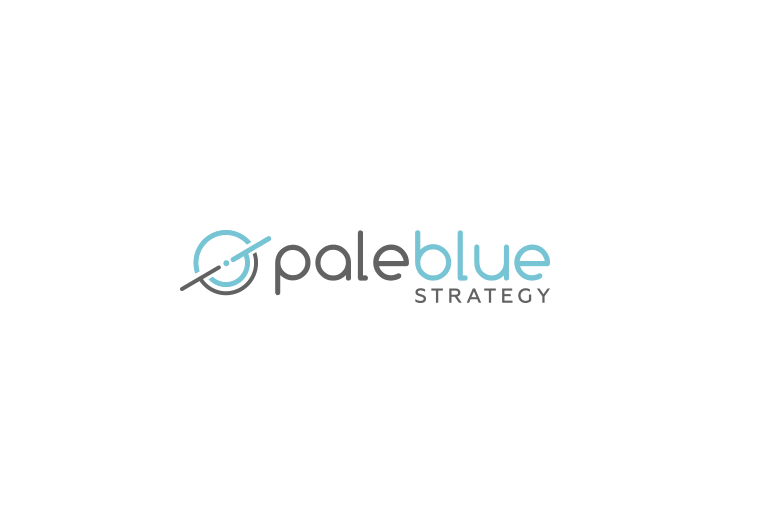 Blue circular abstract shape digital marketing logo