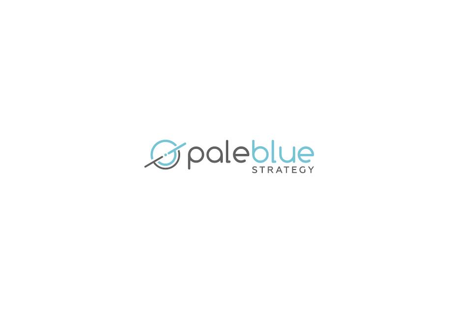 Blue circular abstract shape digital marketing logo