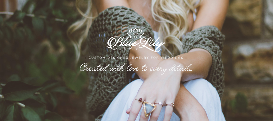 blue, gray and white jewelry website