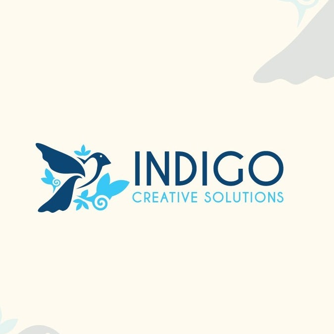 Elegant blue bird mascot digital marketing logo