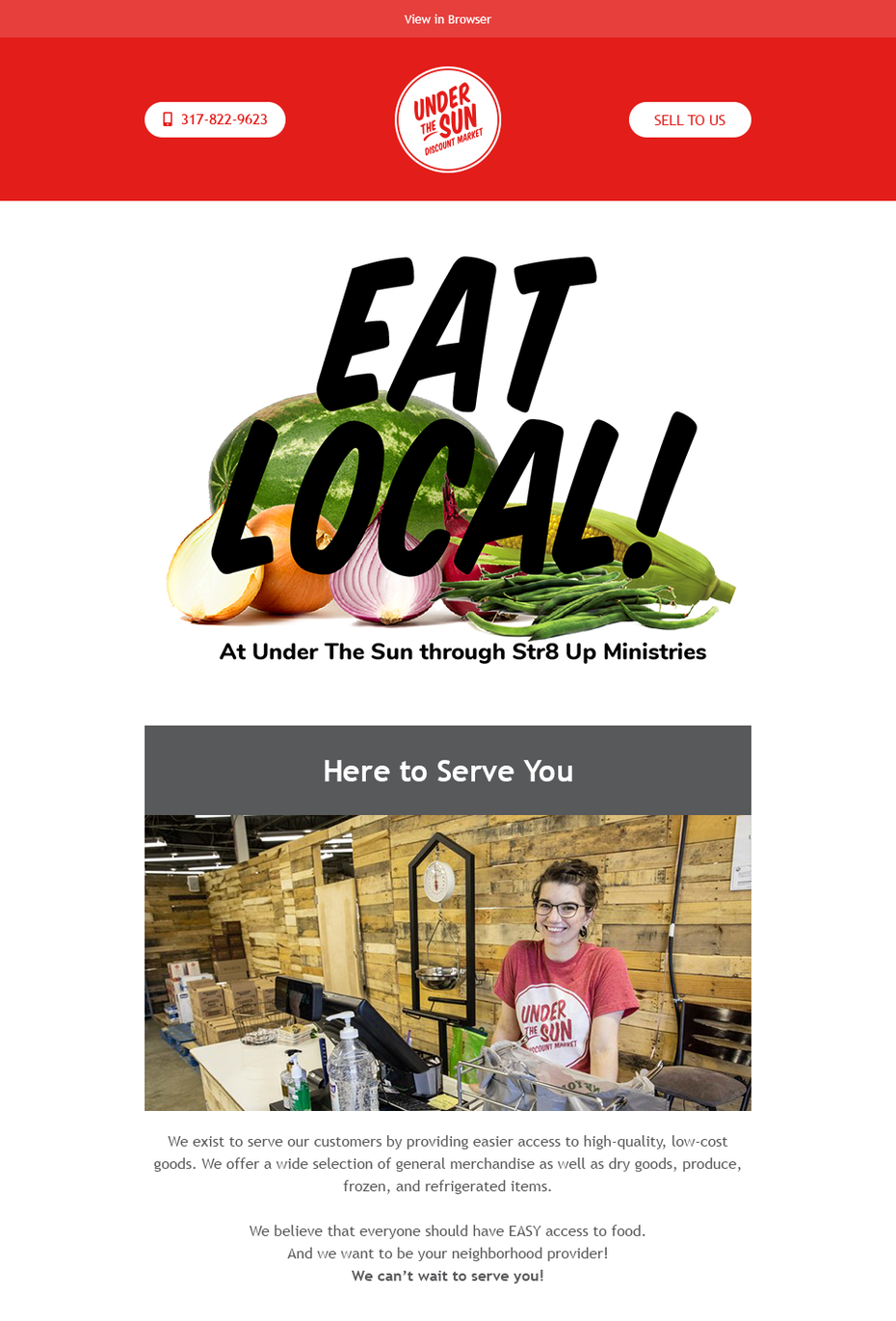 email design for food company
