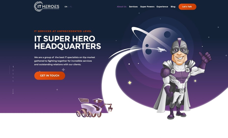IT Heroes website