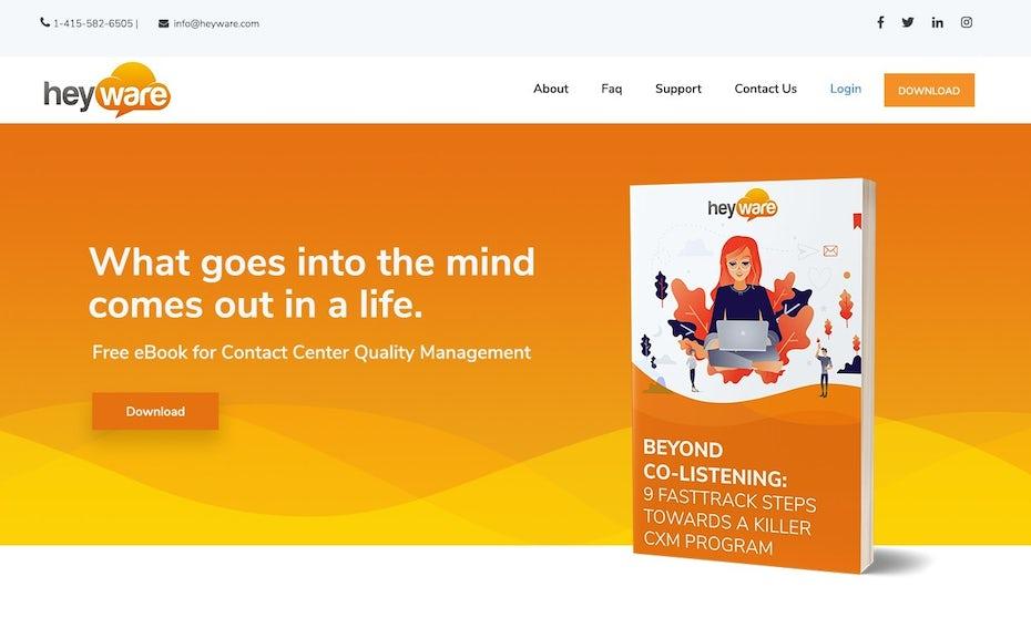 Heyware website