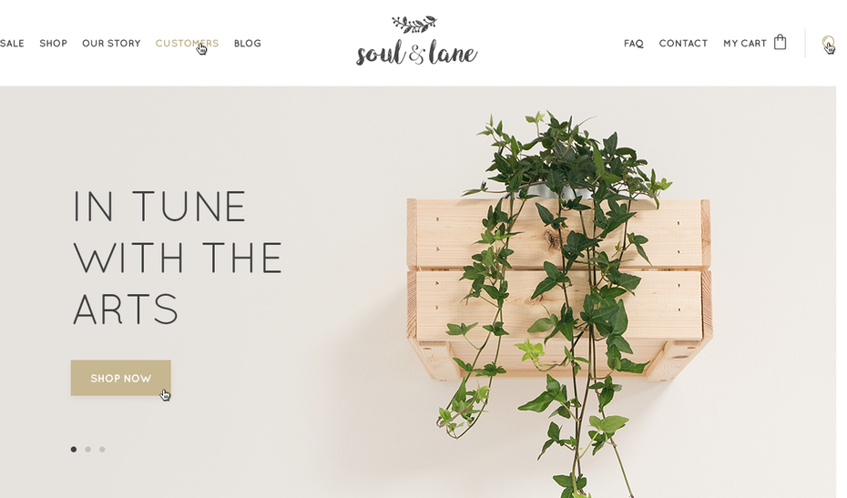 home goods ecommerce website