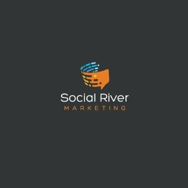 Speech bubble communication-themed digital marketing logo