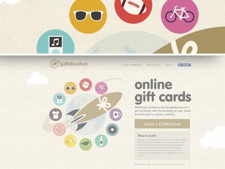GiftRocket navigation menu