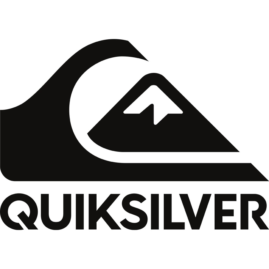 black and white Quiksilver logo