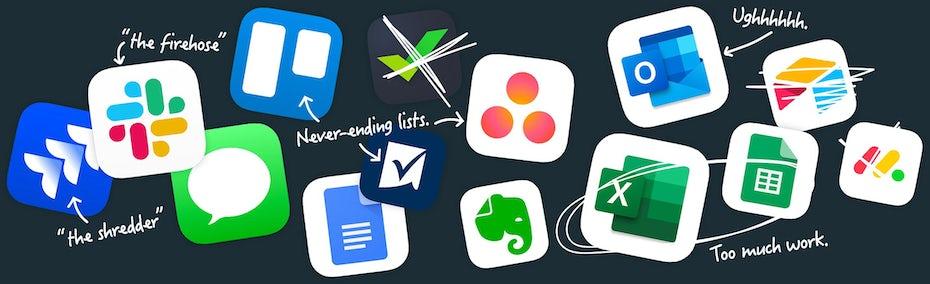 Basecamp website illustration