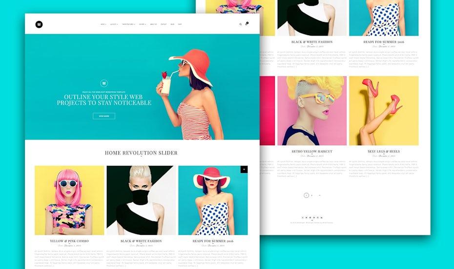 Pastel color web page design