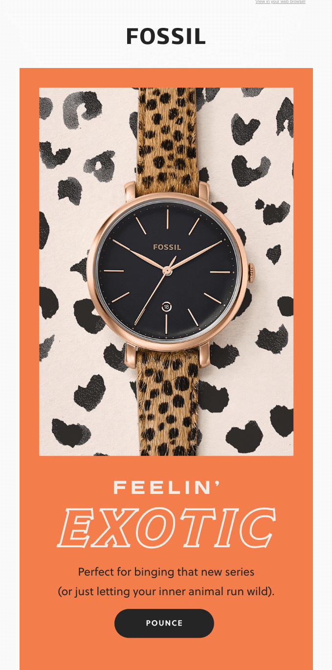 email design for Fossil