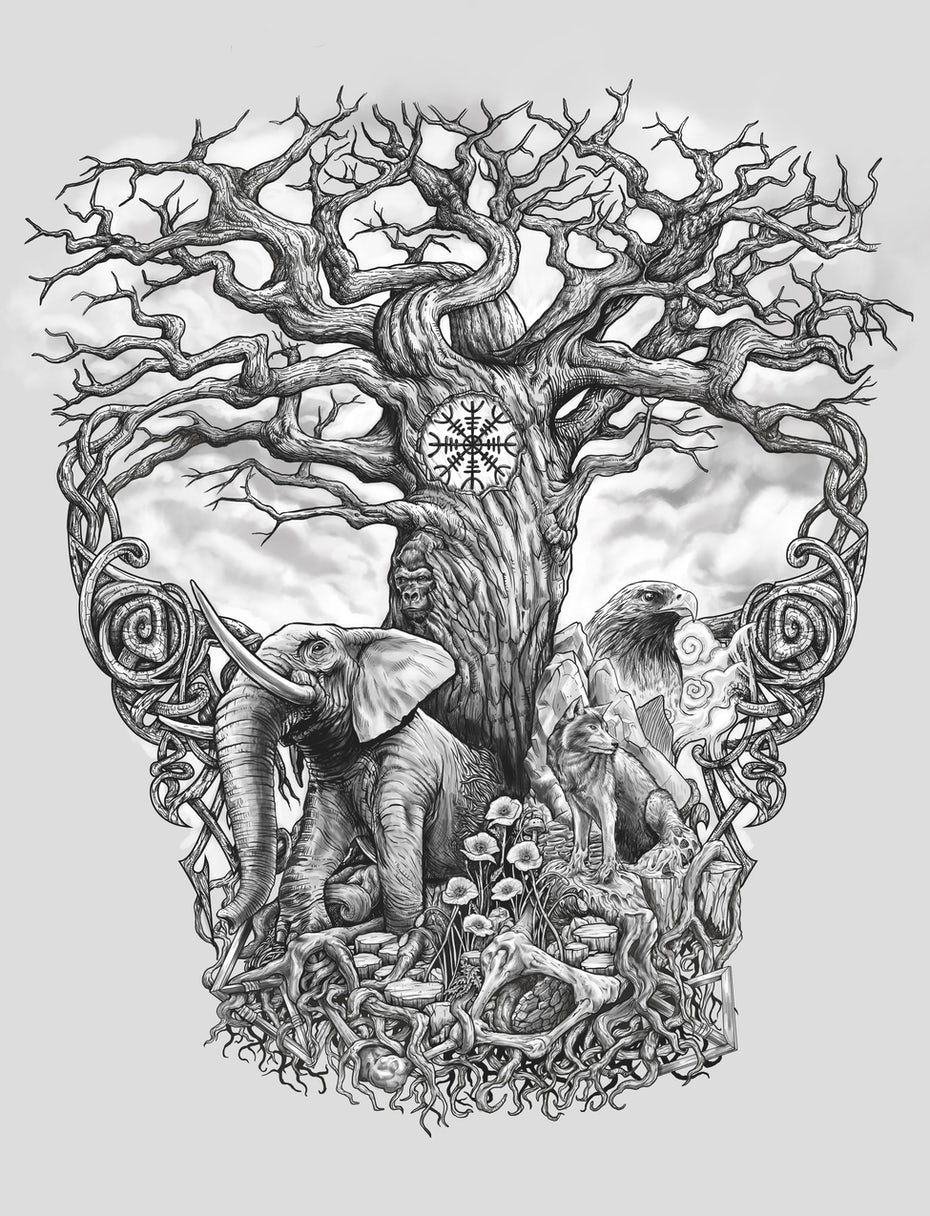 tree of life tattoo design