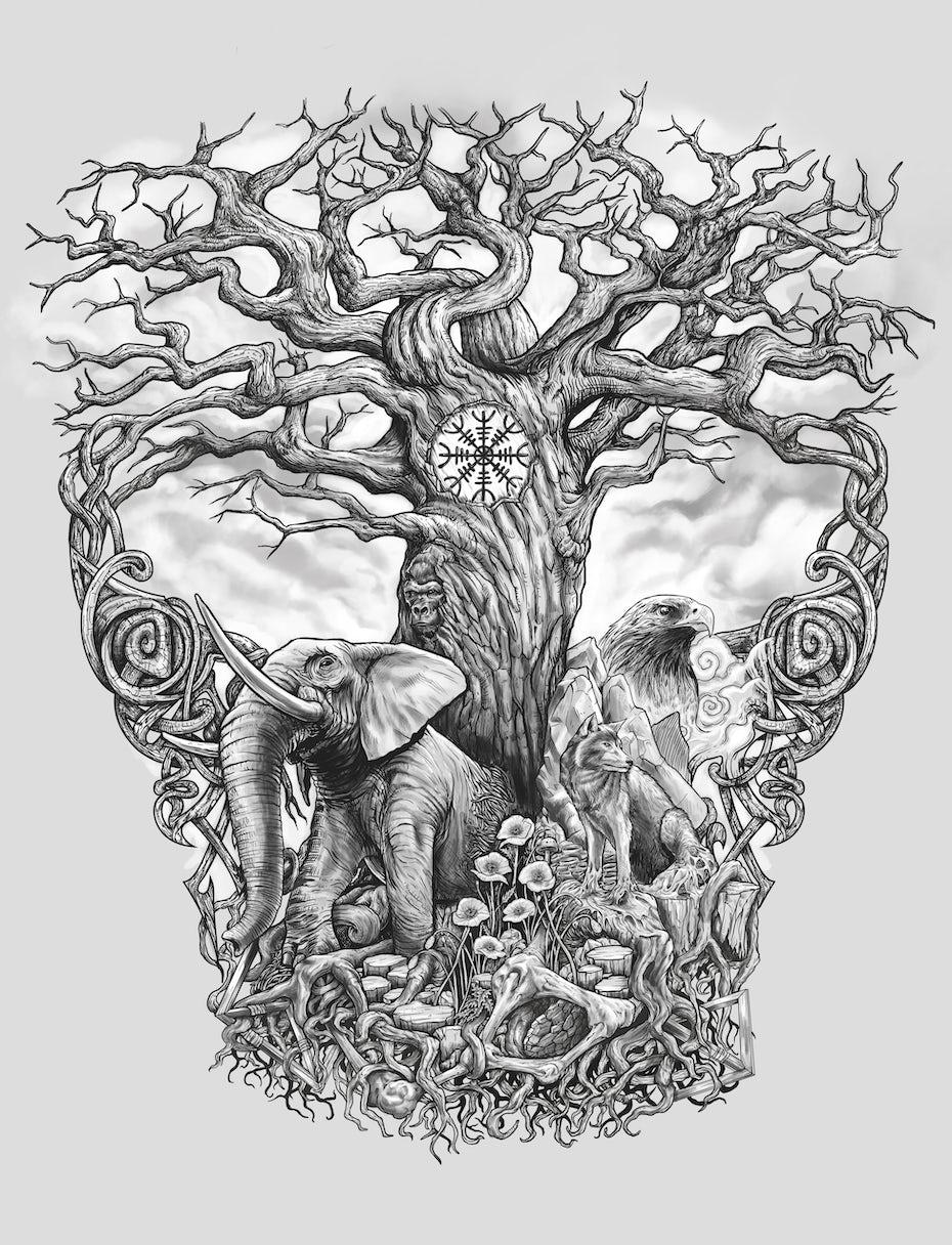 tree of life tattoo design