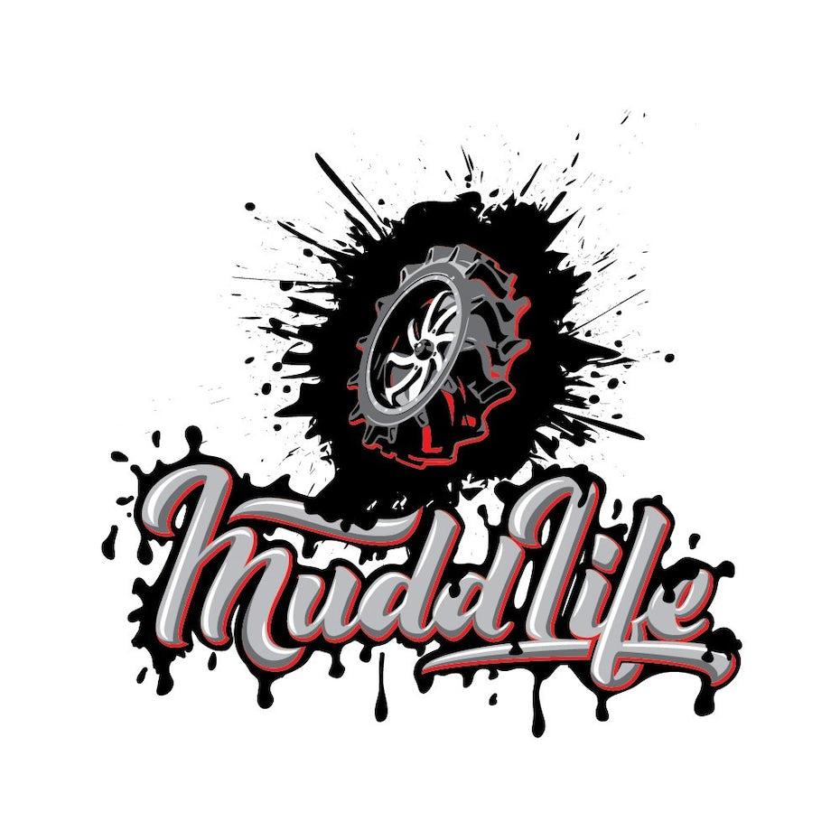Mud textured logo