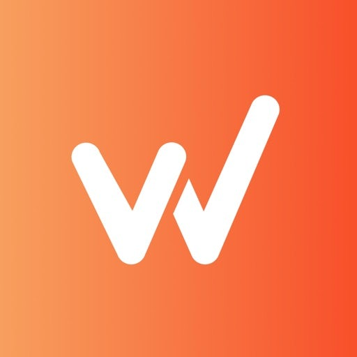 letter W against an orange and peach gradient