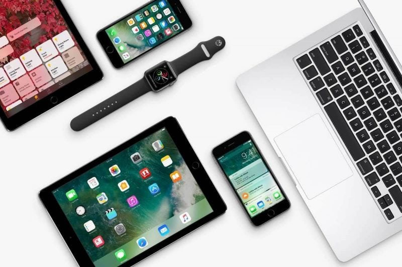 collection of Apple products