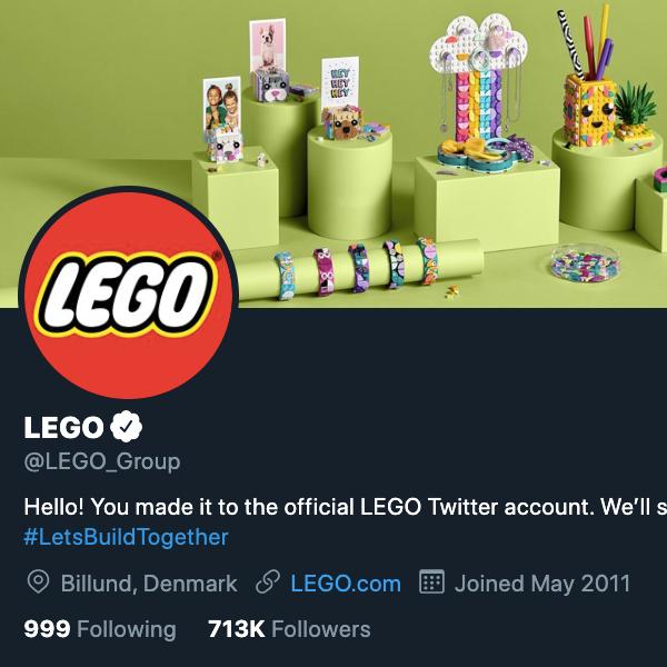 LEGO's Twitter avatar