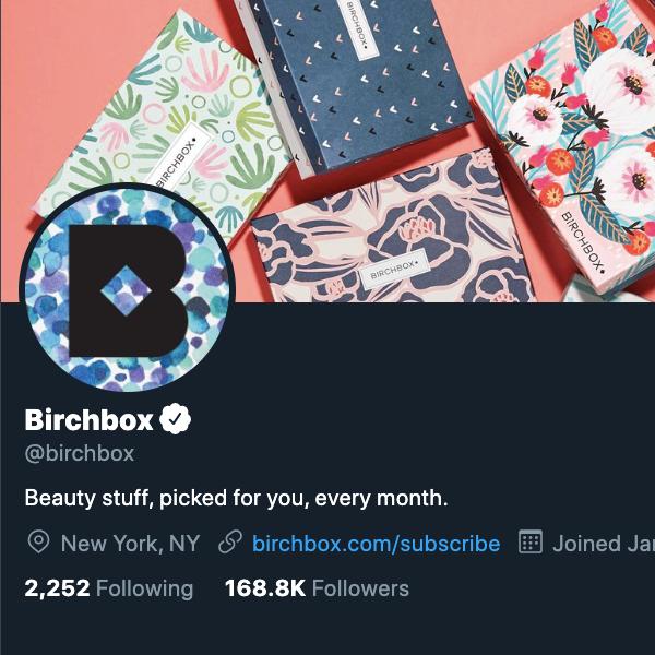 Birchbox's Twitter avatar