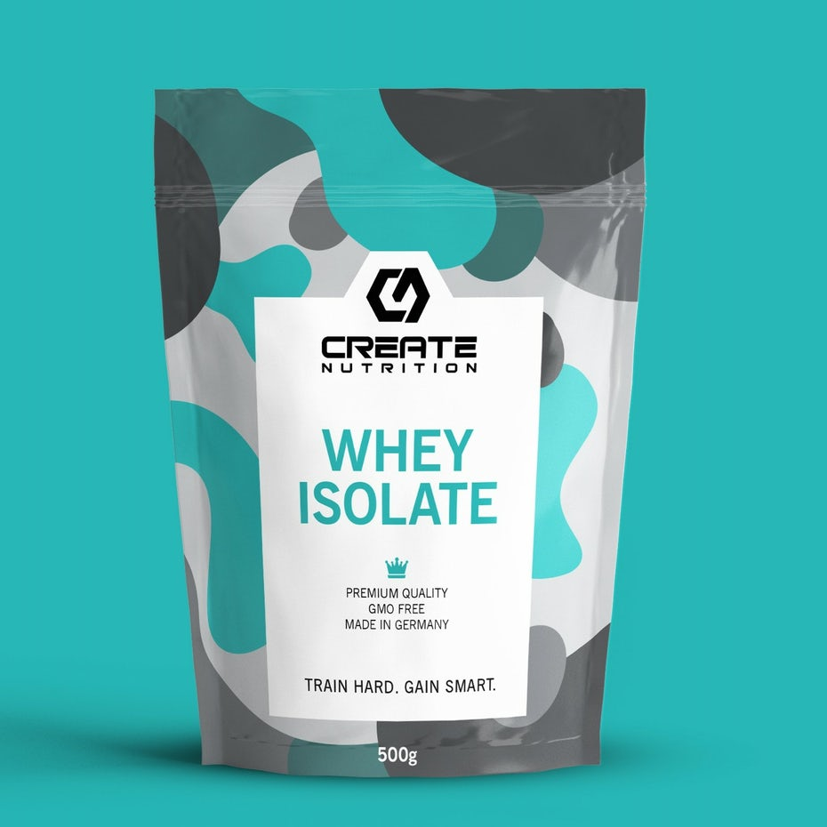 blue, gray and white camouflage-patterned whey pouch