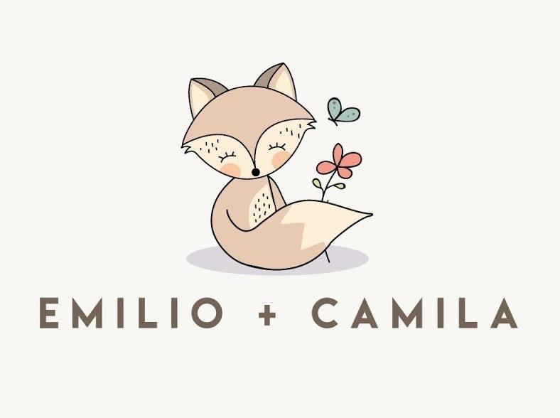 Brand personality design for emilio + camila