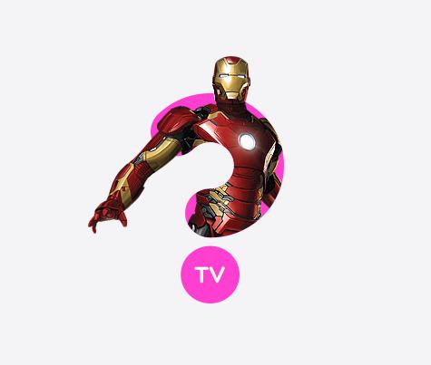 Realistic Ironman 3d logo design