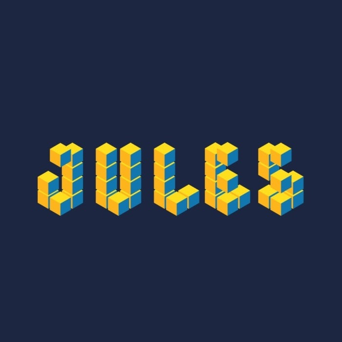 3d logo made from colorful building blocks
