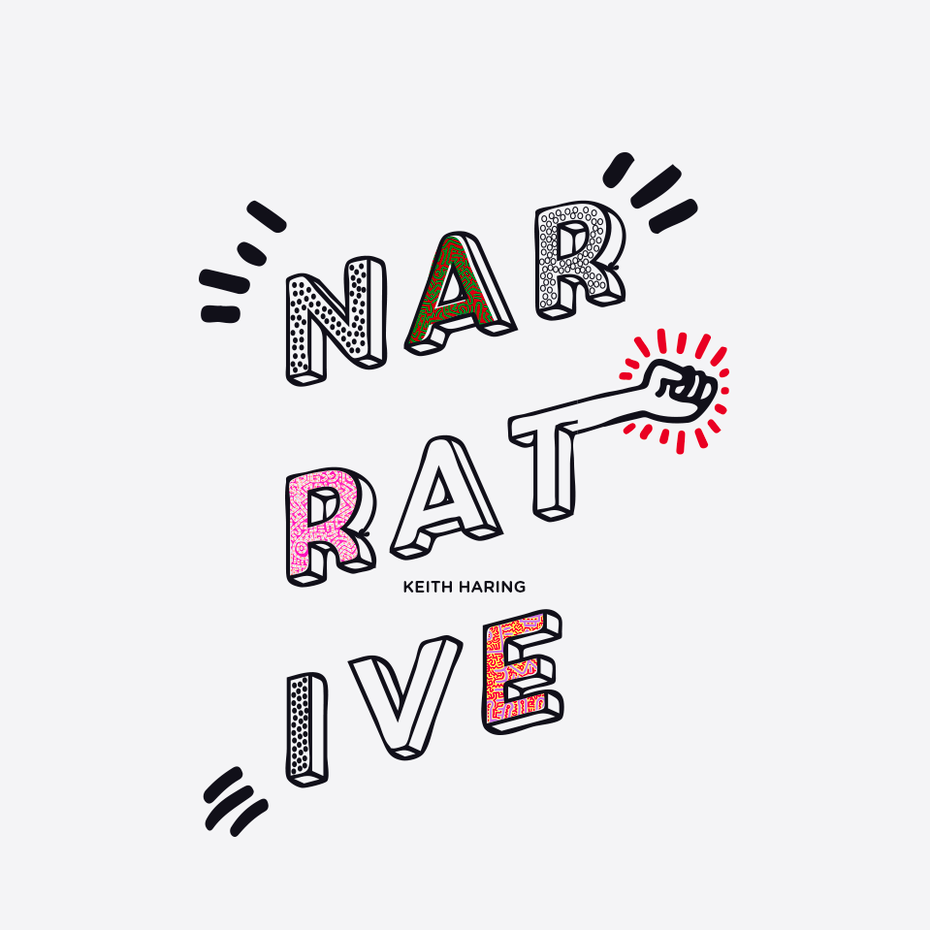 Fun textured 3d logo design