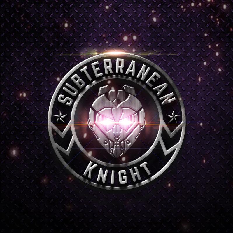 3d logo emblem with metal look
