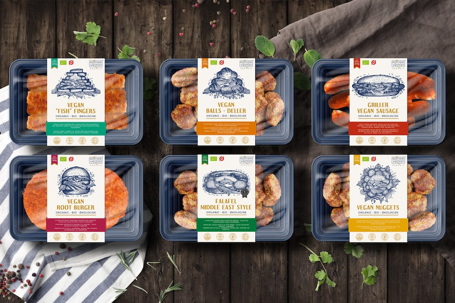 collection of vegan grill products