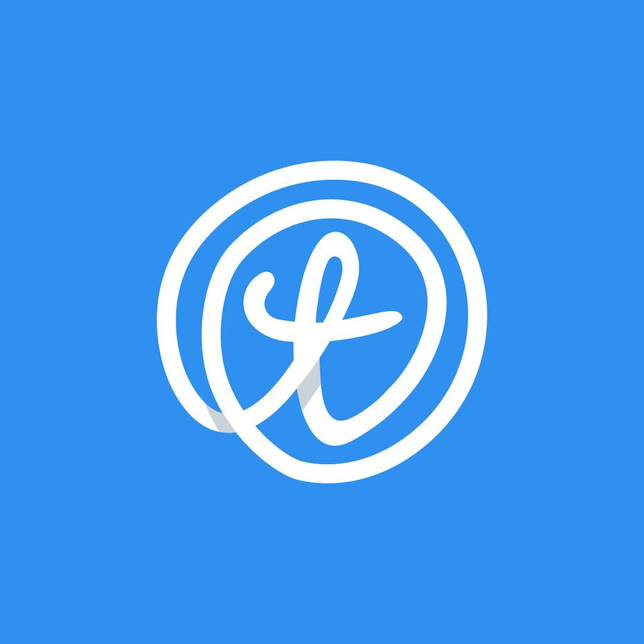 Shadow loop 3d logo design