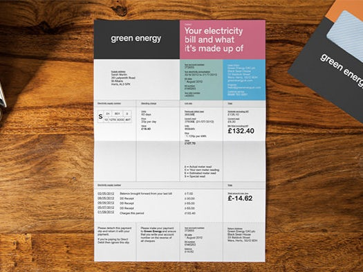 color blocked invoice design