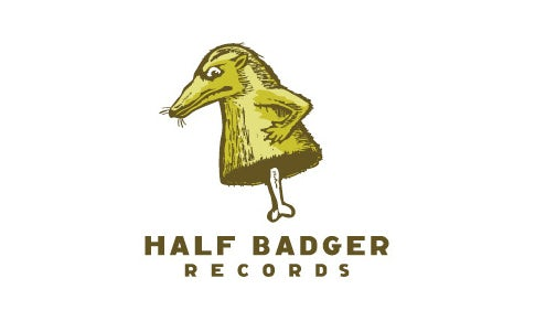 bad logo design of Half Badget Records