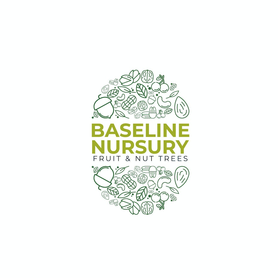 bad logo design of Baseline Nursery