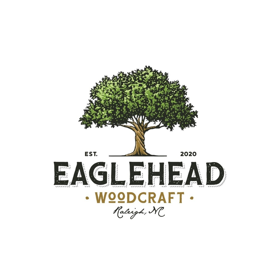 logo design for Eaglehead Woodcraft