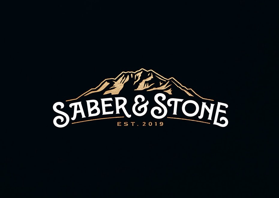 bad logo design of Saber & Stone