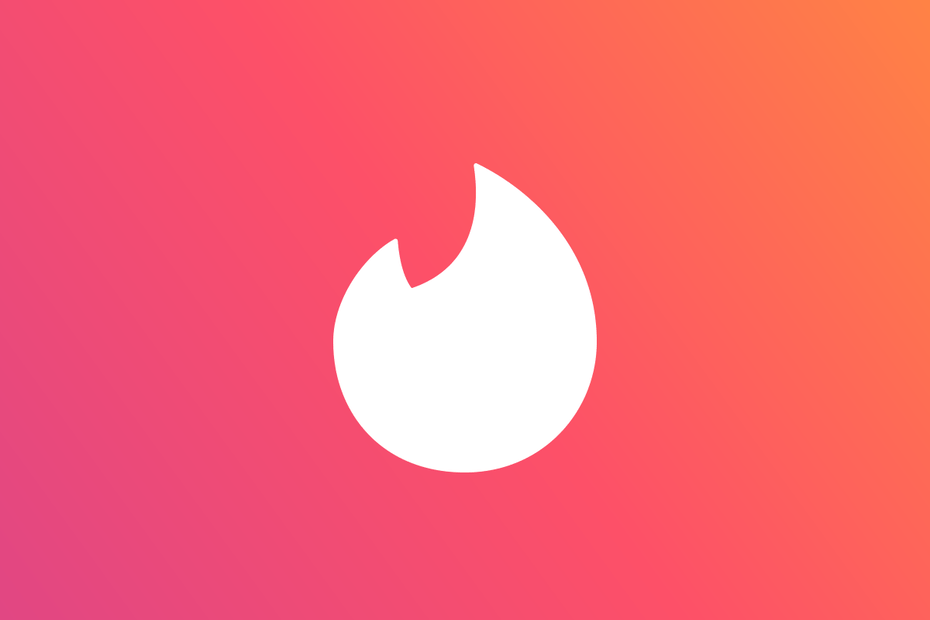 white abstract flame shape against a red gradient background