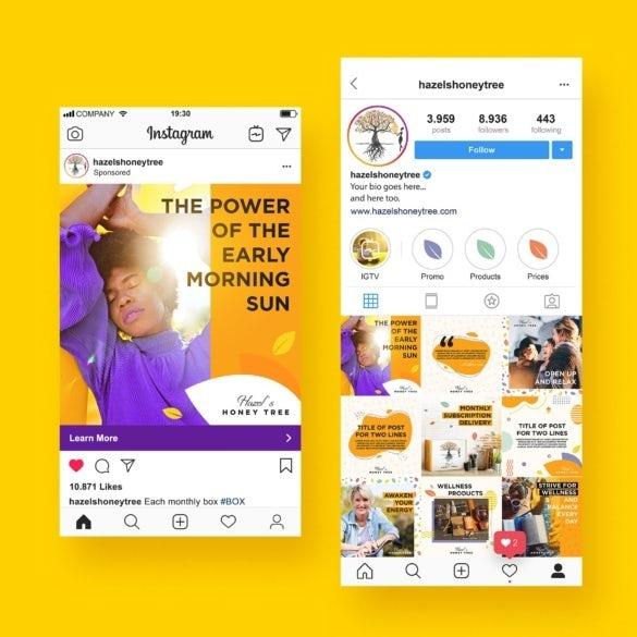 Design für Instagram Profil und Anzeigen