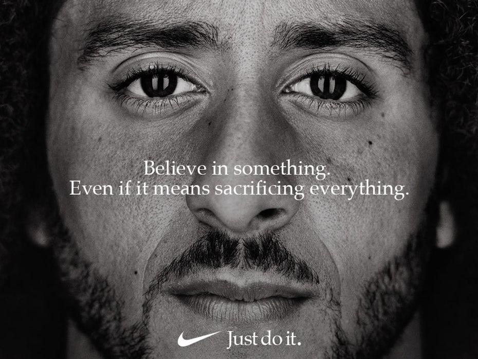 Nike print ad featuring Colin Kaepernick