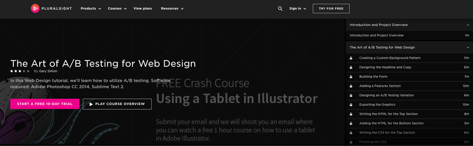 Screenshot Pluralsight responsives Webdesign-Tutorials